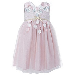 Monsoon - Baby girls' pink 'Cherry Blossom' dress