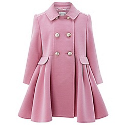 Monsoon - Girls' pink 'natalia' coat