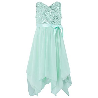 Monsoon Girls\' green Laurentia\' sequin dress | Debenhams