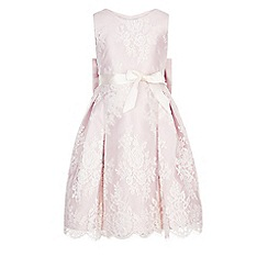 Monsoon - Girls' pink 'Valeria' lace dress