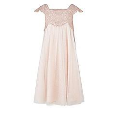 Monsoon - Girls' pink estella sparkle dress