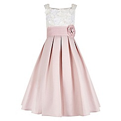Monsoon - Girls' pink 'Enola' flower dress