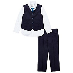 Monsoon - Boys' navy 'Christopher' 4 piece suit set
