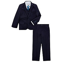 Monsoon - Boys' navy 'Christopher' 5 piece suit set with jacket