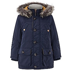 Monsoon - Boys' blue Nat' navy parka coat