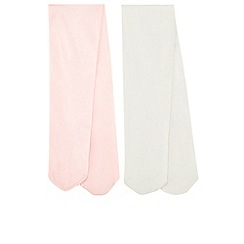 Monsoon - Baby girls' Pink 2 Pack Nylon Tights