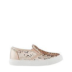 Monsoon - Girls' Gold Reversible Sequin Slip On Pump