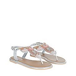 Monsoon - Girls' Silver Beaded Metallic Sandal