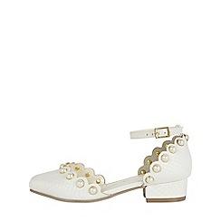 Monsoon - Girls' White Pearl Stud Mini Heel