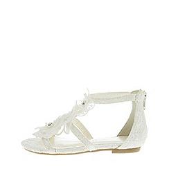 Monsoon - Girls' White Bridal Flower Lace Sandal