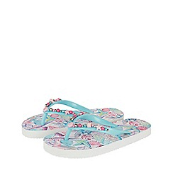 Monsoon - Girls' multicoloured pearly shell beaded flip flop