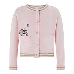 Monsoon - Baby girls' pink 'Bundles' cardigan