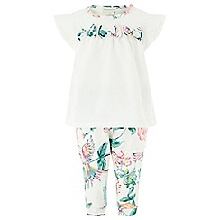 Monsoon - White newborn Baby girls' 'Sienna' Set