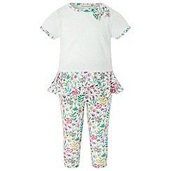 Monsoon - White new born baby girls' 'Olivia' set