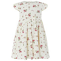 Monsoon - Baby girls' white 'Pandora' print dress
