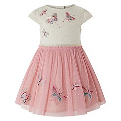 Monsoon - Baby girls' pink 'Disco Bug' dress