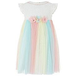 Monsoon - White baby 'Natalia' dress