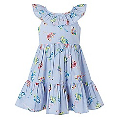 Monsoon - Blue baby 'Finella' flamingo dress