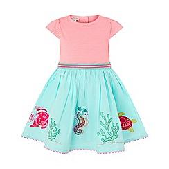 Monsoon - Pink baby 'Lizzie' 2 in 1 seahorse dress
