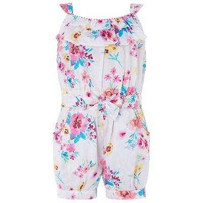 Monsoon   Pink Baby 'alba' Woven Playsuit by Monsoon