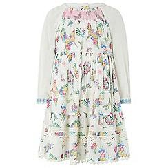 Monsoon - White baby 'Sage' LS dress