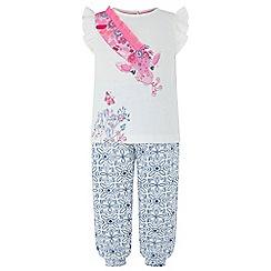 Monsoon - White baby 'Clem' giraffe trouser set