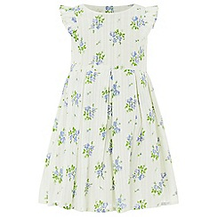 Monsoon - Baby girls' white 'Rosie' print dress