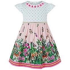 Monsoon - Baby girls' pink 'Mischa' jungle 2 in 1 dress