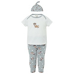 Monsoon - Baby girls' white new born 'Royal' corgi set