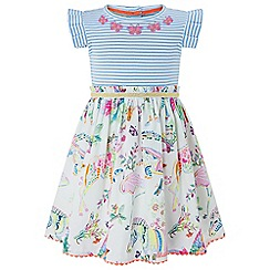 Monsoon - Baby girls' white 'Cadenza' 2 in 1 dress