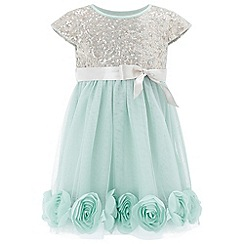 Monsoon - Baby girls' green 'Kylie' rose dress