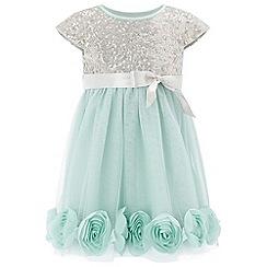 Monsoon - Baby girls' green 'Kylie' rose dress