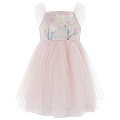 Monsoon - Baby girls' pink 'Fleur' Dress