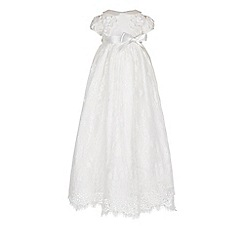 Monsoon - Baby girls' white Provenza Silk Christening Gown