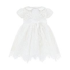 Monsoon - Baby girls' white Provenza Silk Christening Gown