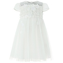 Monsoon - Baby girls' white 'Flourish' Flower dress