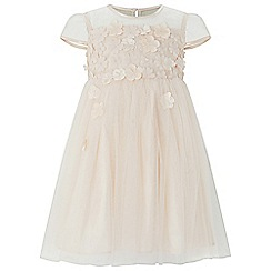 Monsoon - Baby girls' light cream flourish flower dress
