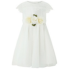 Monsoon - Baby girls' white 'Angelina' dress