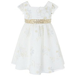 Monsoon - Baby girls' white 'Oraliea' dress