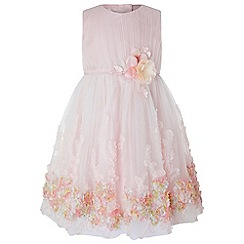 Monsoon - Baby girls' pink 'Wisteria' dress
