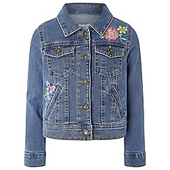 Monsoon - Girls' blue 'Fleur Denim' jacket