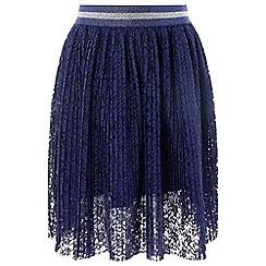 Monsoon - Girls' blue 'Lily' pleat skirt