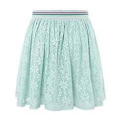 Monsoon - Girls' blue 'Lydia' lace skirt