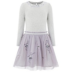 Monsoon - Girls' purple disco Ballerina dress