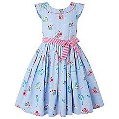 Monsoon - Blue 'Finella' flamingo dress
