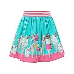 Monsoon - Blue 'Evie' Border Skirt