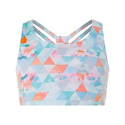 Monsoon - Girls' Pink Elise Geo Crop Top