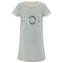 Monsoon - Girls' Grey Pop Sweat Dress