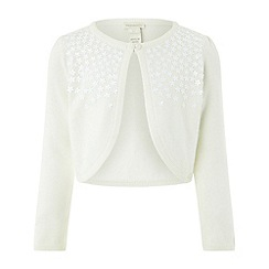 Monsoon - Girls' White 'Flora' Bolero