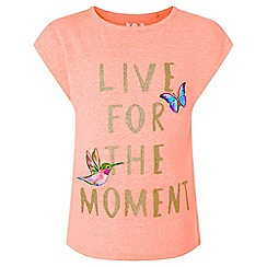 Monsoon - Girls' Pink Live for the Moment Top